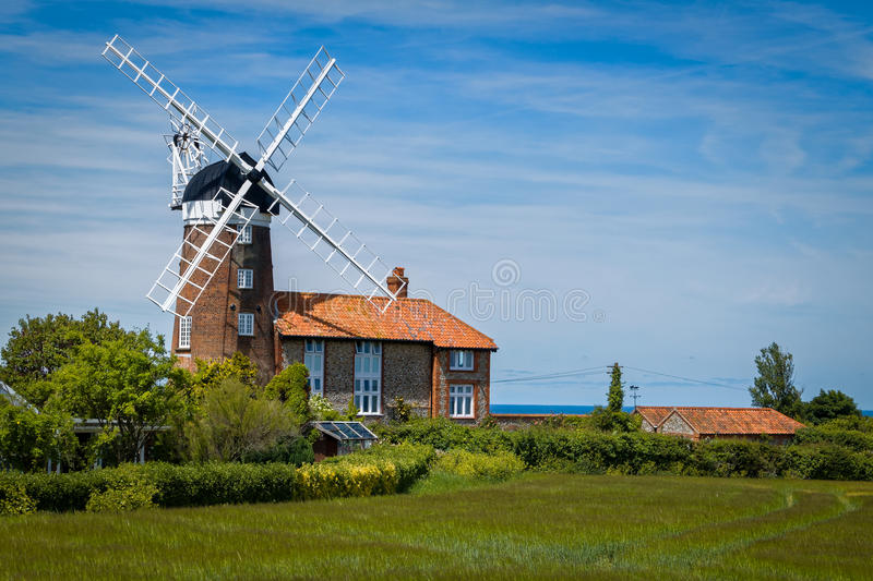 Windmill in Norfolk, England stock photography