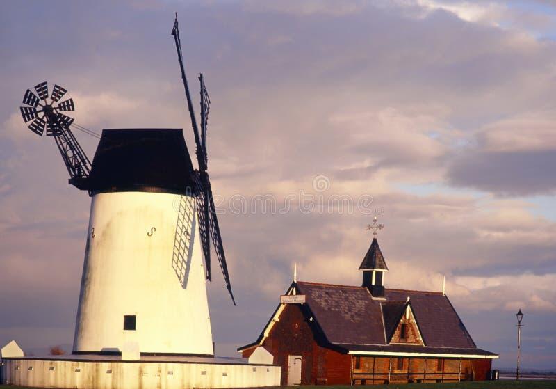 Windmill och museum, Lytham, Lancashire royaltyfri fotografi