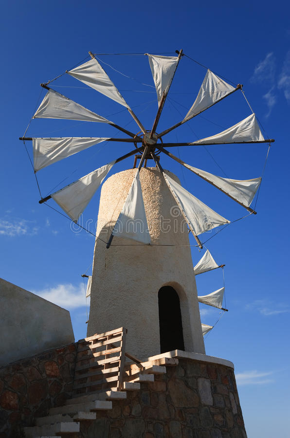 Free Windmill On Crete Royalty Free Stock Photography - 12740157
