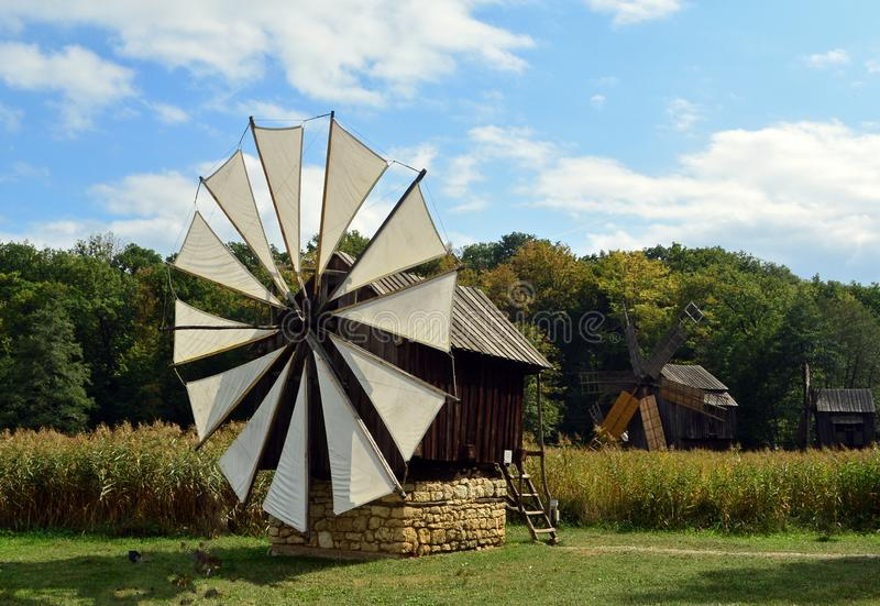 Windmill a open air Museum royalty free stock photo