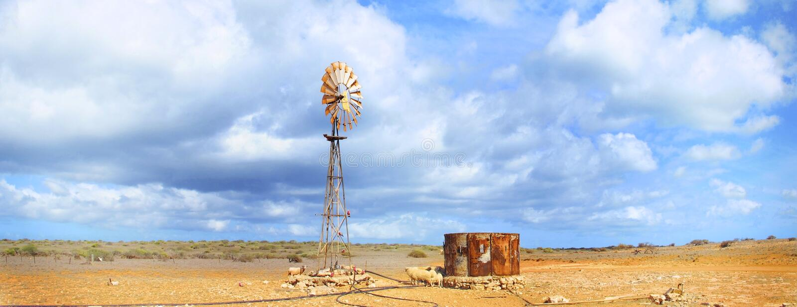Windmill, Outback, Australia royalty free stock photo