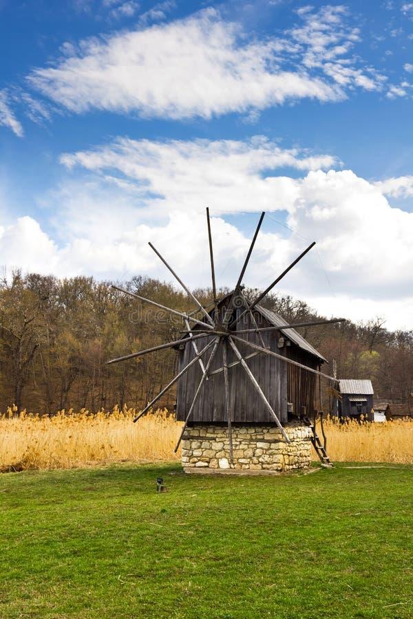Windmill park, Sibiu, Transylvania, Romania stock photo