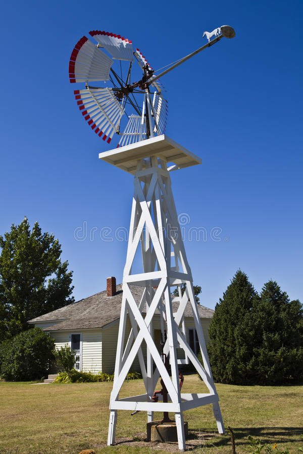 Download Windmill and Pump stock image. Image of cloudless, country - 16024399