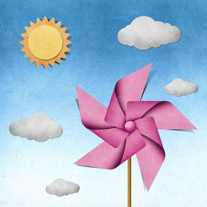 Download Windmill Recycled Papercraft Stock Illustration - Image: 21342982