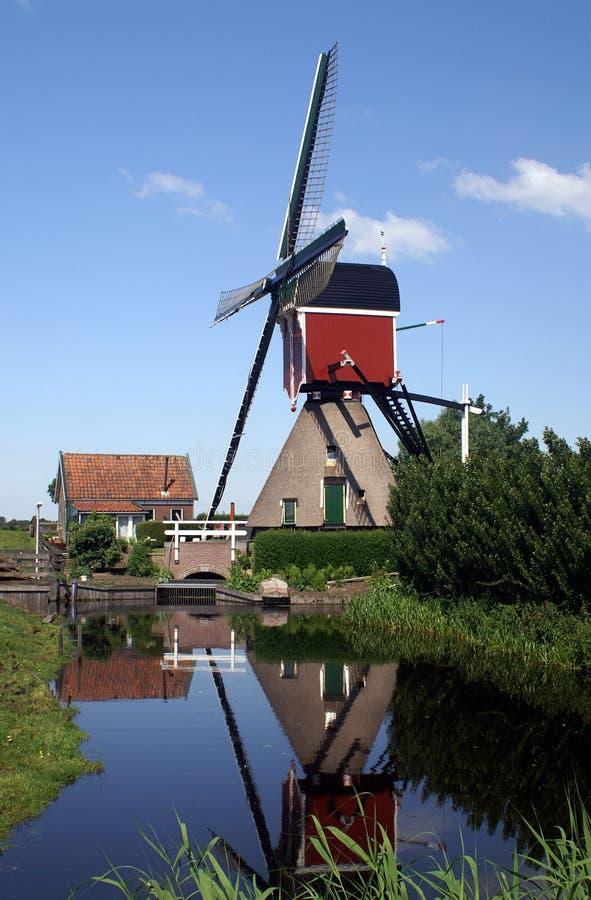 Free Windmill Reflection Royalty Free Stock Photos - 9896748