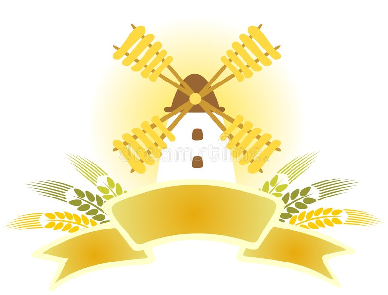 Download Windmill with ribbon stock vector. Image of picture, yellow - 8649534