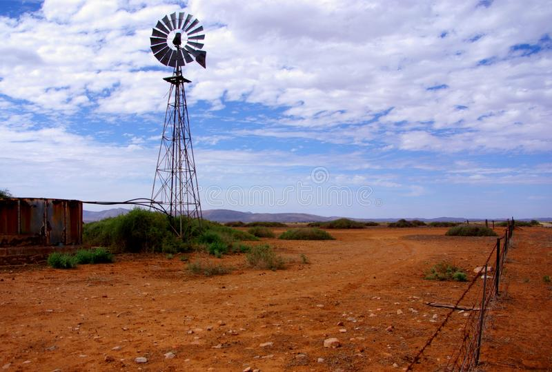 Outback Windmill stock photos