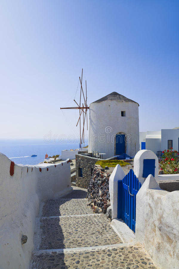 Download Windmill At Santorini Island, Greece Stock Photo - Image of mountain, hotel: 19963476