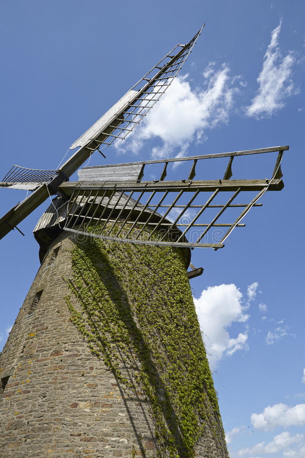 Windmill Seelenfeld (Petershagen, Germany). The windmill Seelenfeld (Petershagen, Germany) is a dutch type of windmill and is part of the Westphalia Mill Street royalty free stock photo