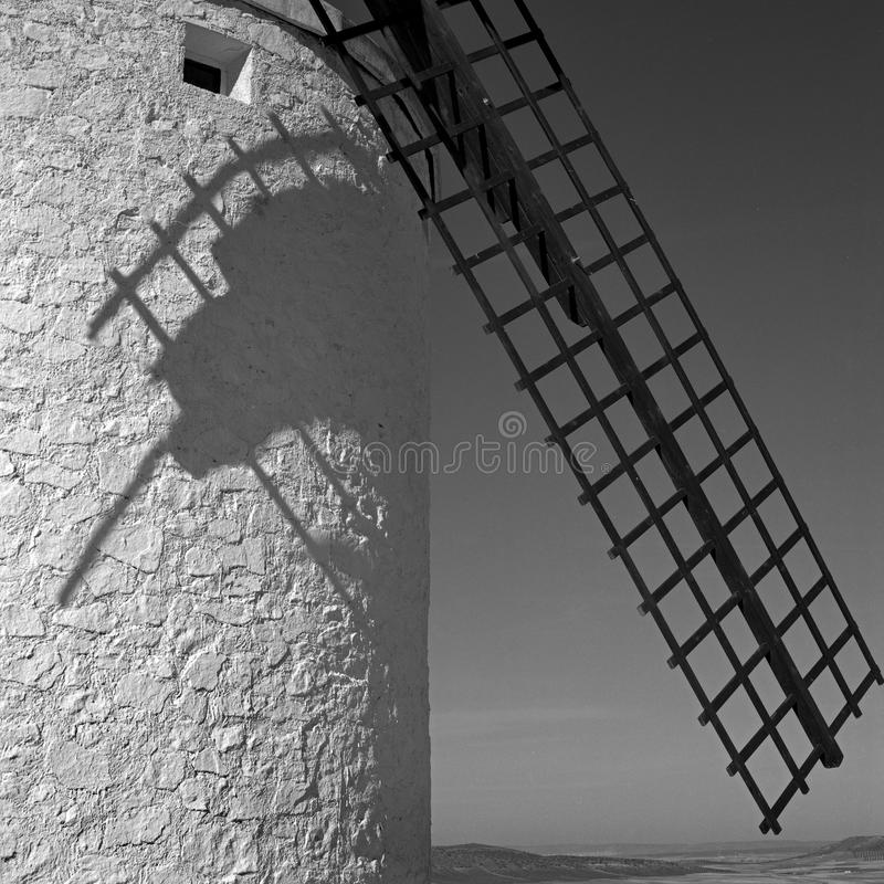 Windmill and the shadow royalty free stock image