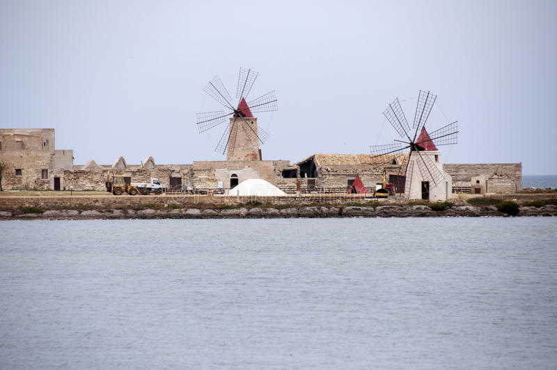 Download Windmill in Sicily, Italy stock image. Image of landmark - 26268615