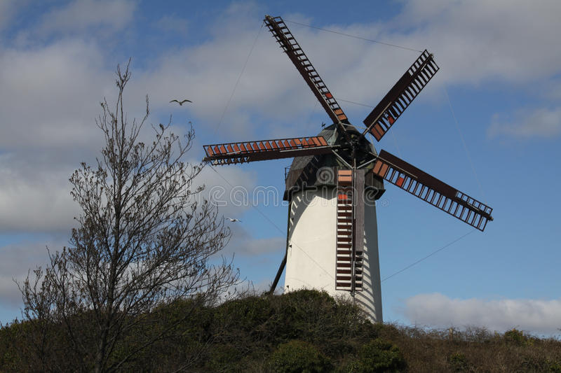 Windmill at Skerries in Ireland royalty free stock photo