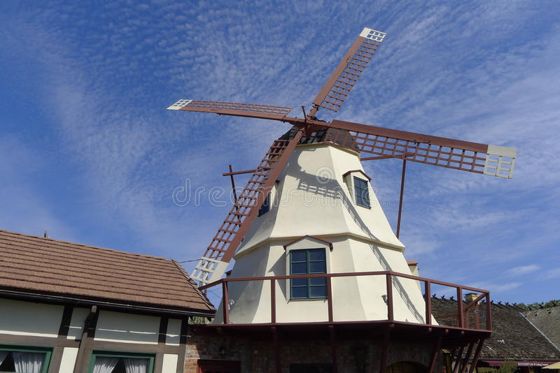 Windmill, Solvang, California royalty free stock image