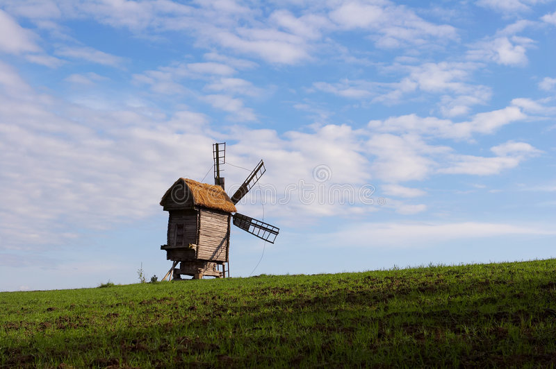 Download Windmill with a straw roof stock photo. Image of architecture - 1779400