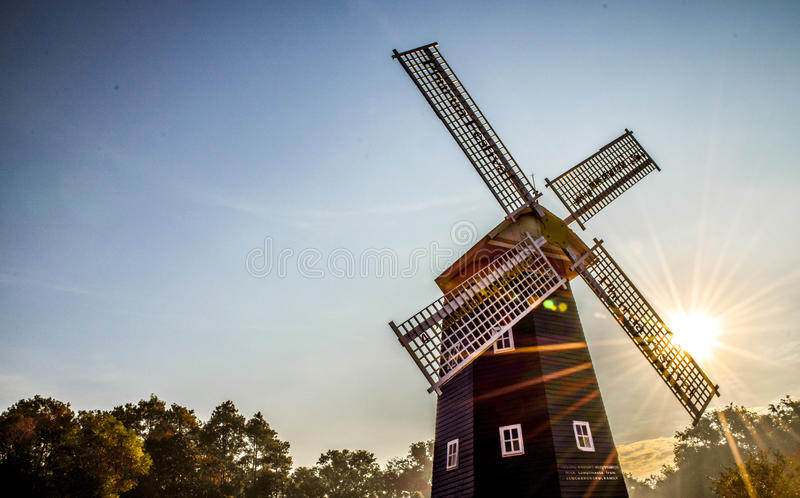 Windmill and the sun royalty free stock photos