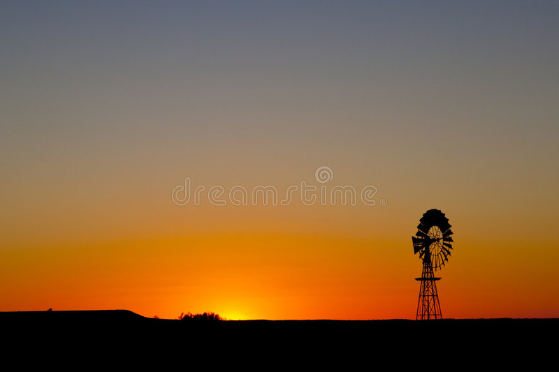 Download Windmill Sunset In Central South Australia Stock Photo - Image: 9337390