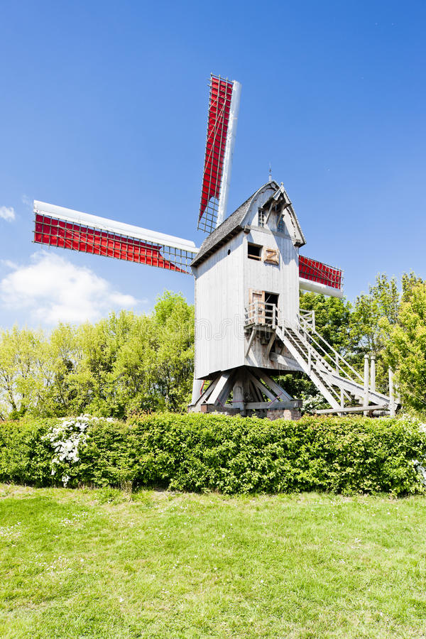 Download Windmill of Terdeghem stock image. Image of outdoors - 28527139