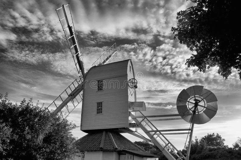 Download Windmill stock photo. Image of thorpeness, monochrome - 40367040