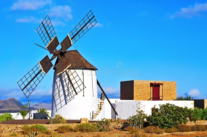 Windmill in Tiscamanita, Fuerteventura, Canary Islands, Spain stock image