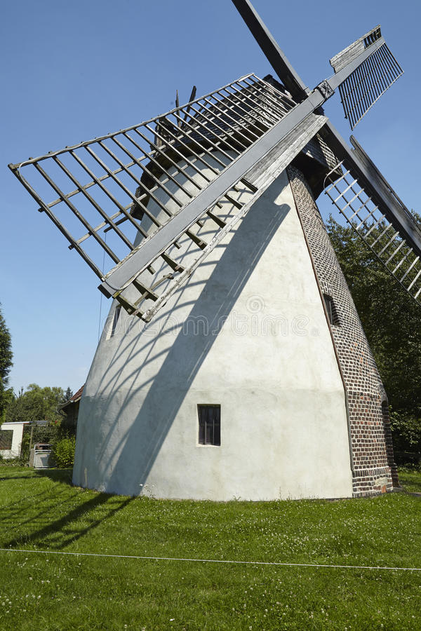 Windmill Todtenhausen (Minden, Germany). The windmill Todtenhausen (Minden, Germany) is a dutch type of windmill and is part of the Westphalia Mill Street ( stock photography