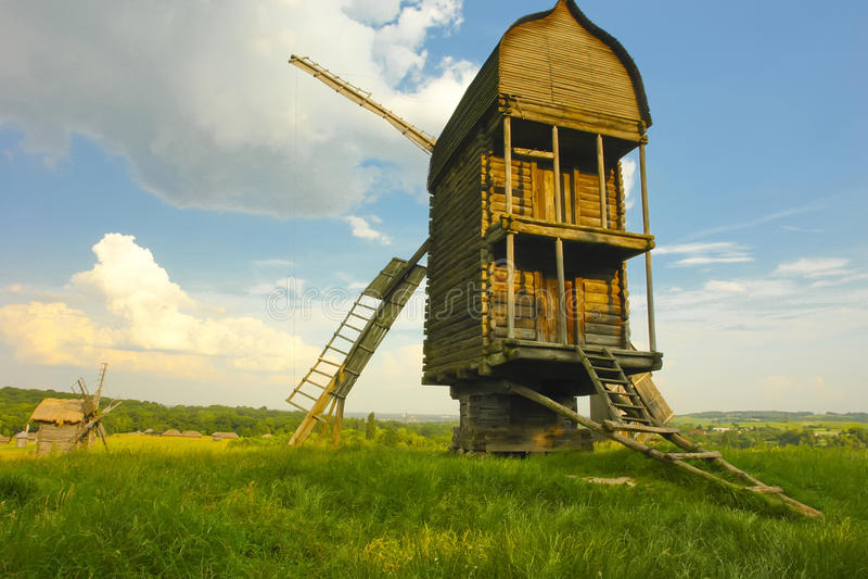 Windmill in Ukraine royalty free stock image