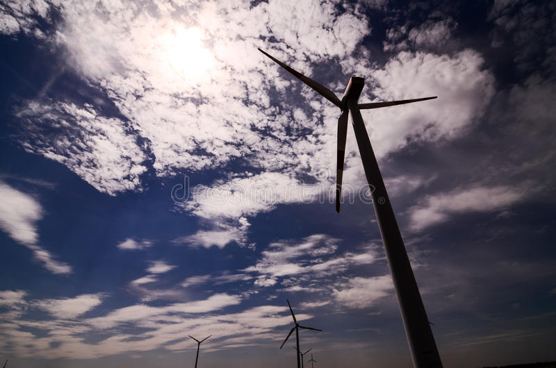 Windmill Wind Turbine. Renewable Green Energy Source royalty free stock images