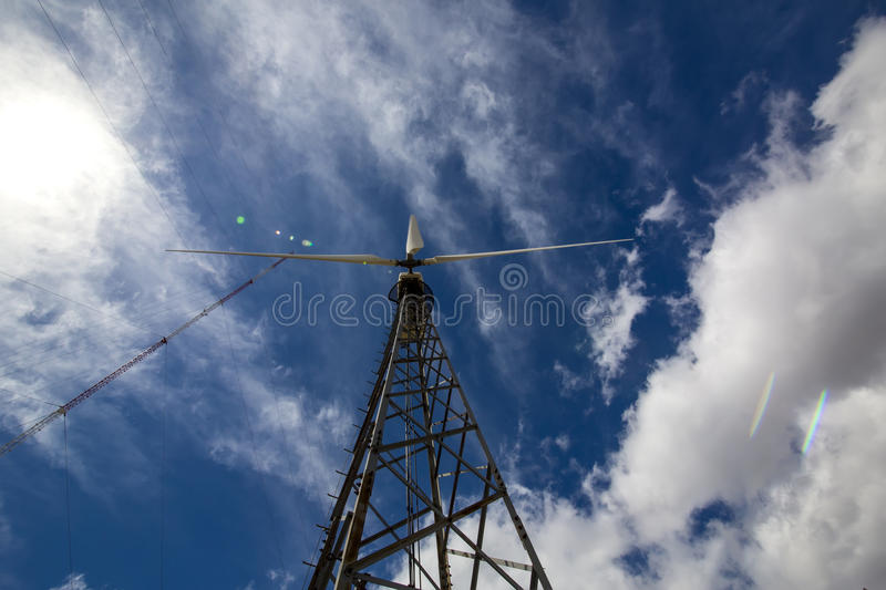 Windmill. Wind turbine to generate electricity royalty free stock photos
