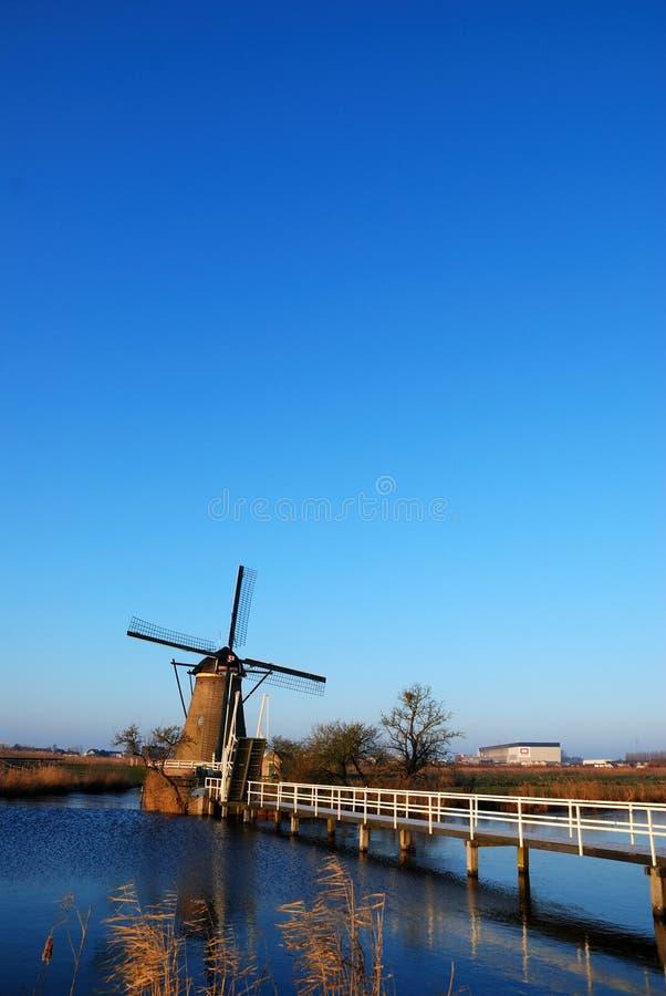 Free Windmill With Bridge Stock Photos - 7692993