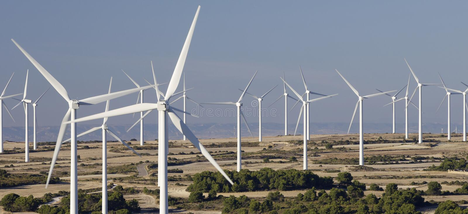 Download Windmills stock image. Image of generation, production - 16291163