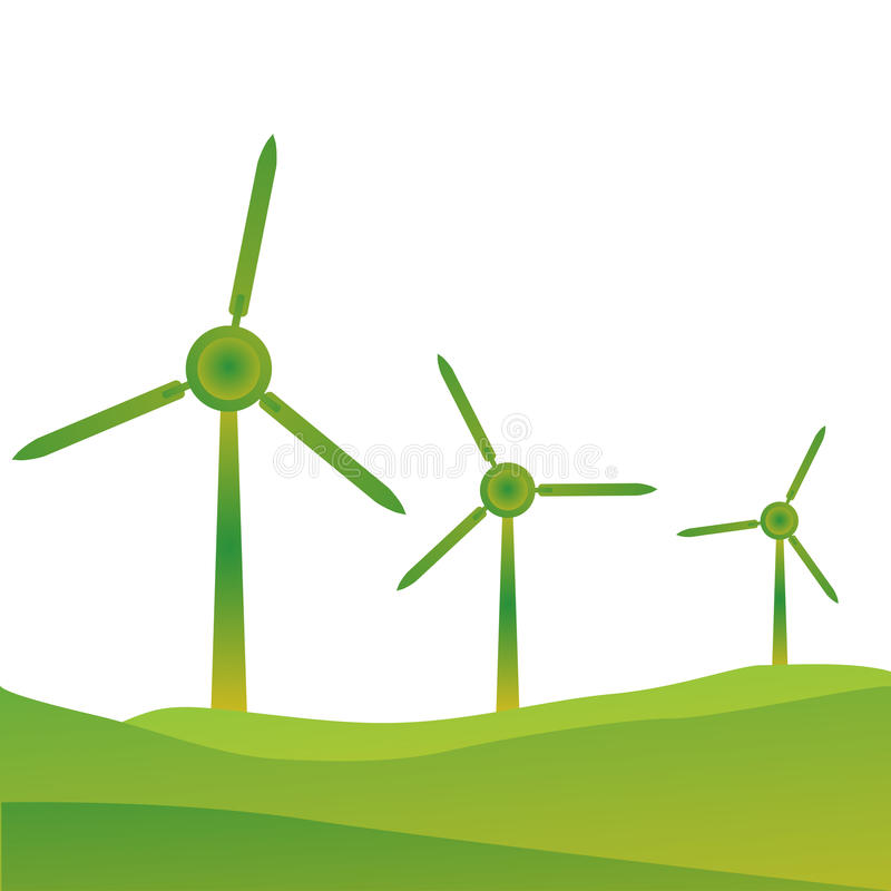 windmills stock illustrationer
