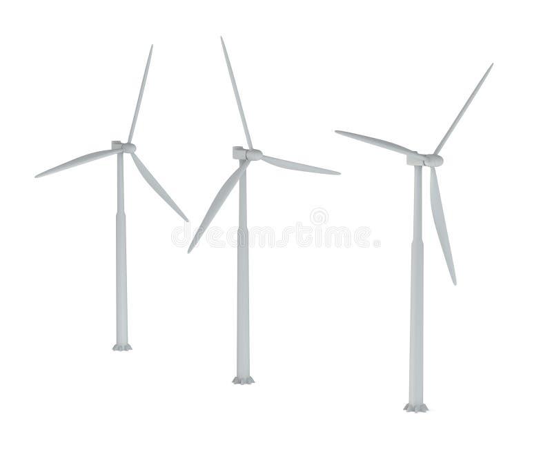 Windmills royaltyfri illustrationer