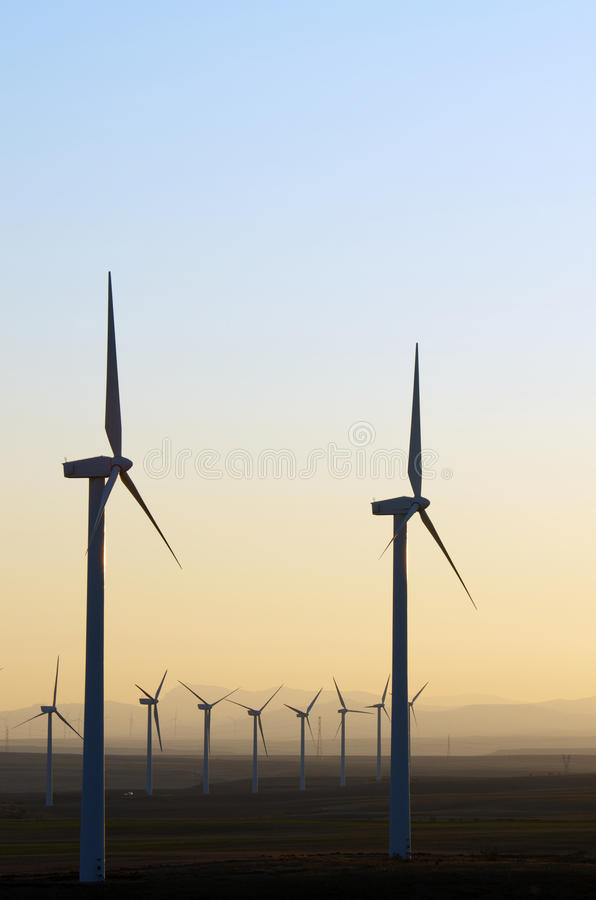 Download Windmills stock image. Image of mill, orange, production - 28445817