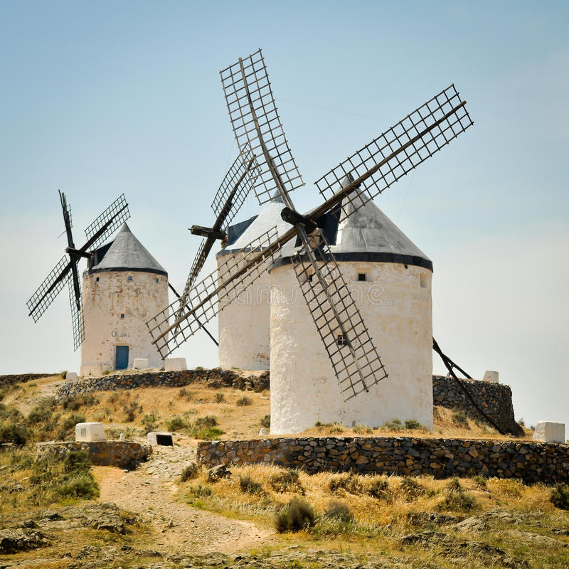 Download Windmills of Consuegra stock image. Image of routes, scene - 25946333