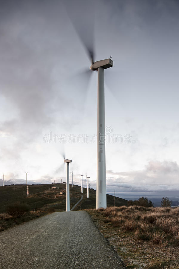 Download Windmills at full capacity stock image. Image of landscape - 27822753