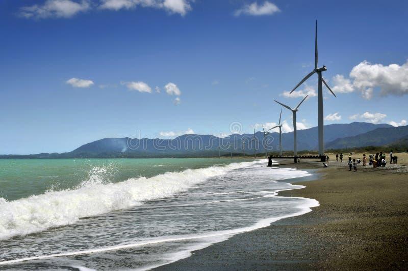 Windmills of Ilocos stock photo