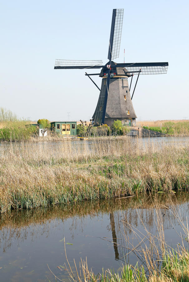 Windmills at Kinderdijk, Netherlands royalty free stock photography