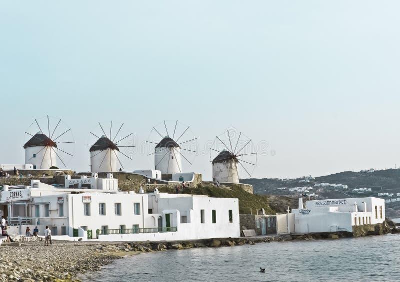 Windmills of Mykonos royalty free stock photos