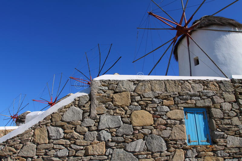 Windmills of Mykonos royalty free stock photo