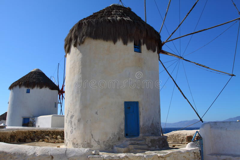 Windmills of Mykonos stock image
