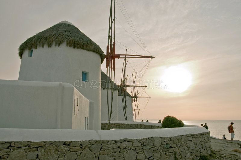 Download Windmills At Sunset Stock Photo - Image: 3592710