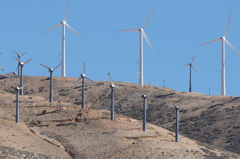 Windmills at Tehachapi Pass stock image