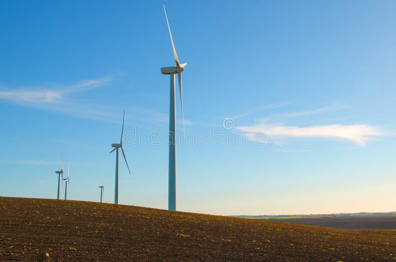 Windmills To Generate Wind Power Stock Photo