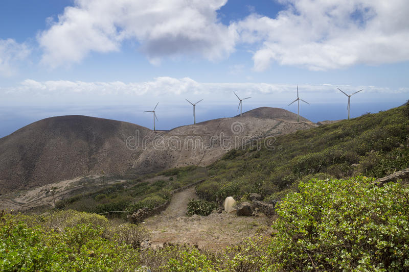 Windmills of Valverde. El Hierro, Spain, Canary Islands royalty free stock images