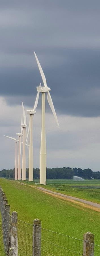 Windmills wind energy stock images