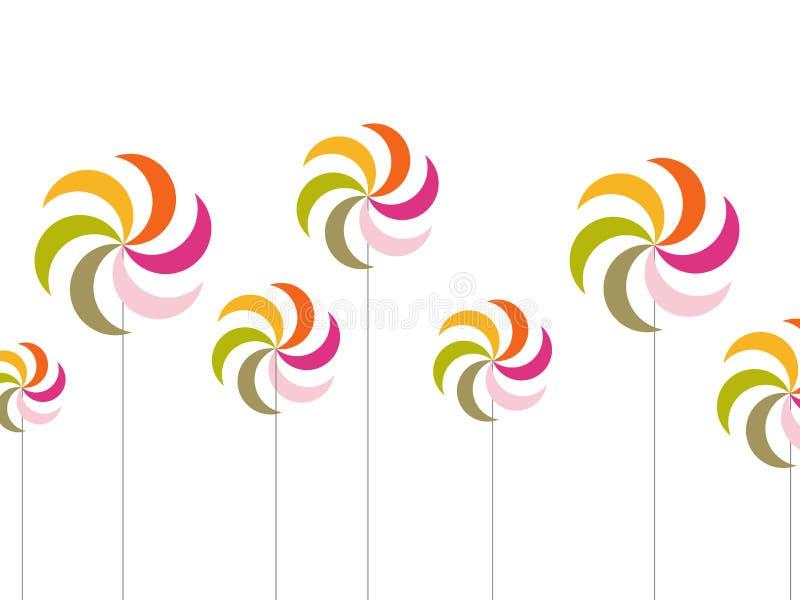 Windmolen stock illustratie