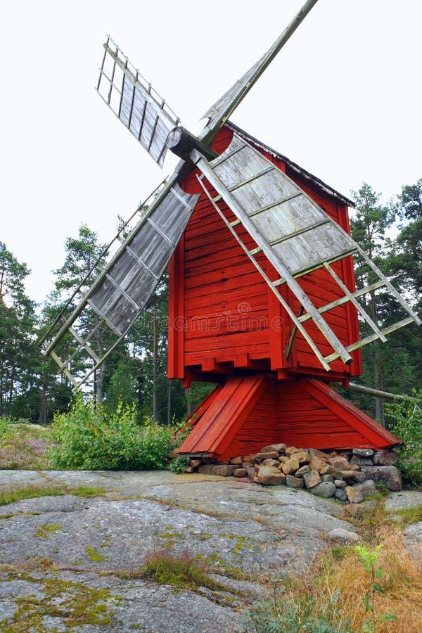 Windmolen in Aland royalty-vrije stock afbeelding