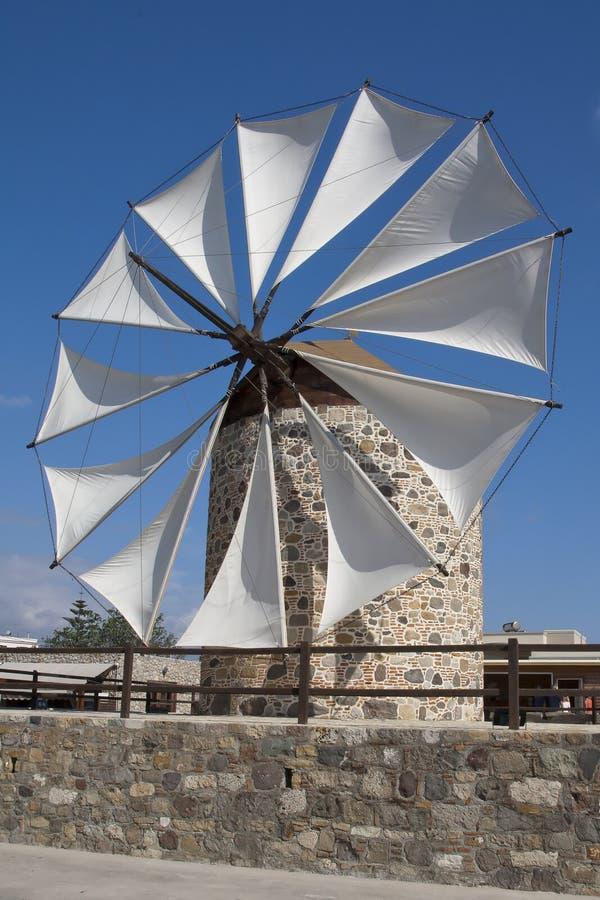 Windmolen in Antimahia, Kos royalty-vrije stock afbeelding