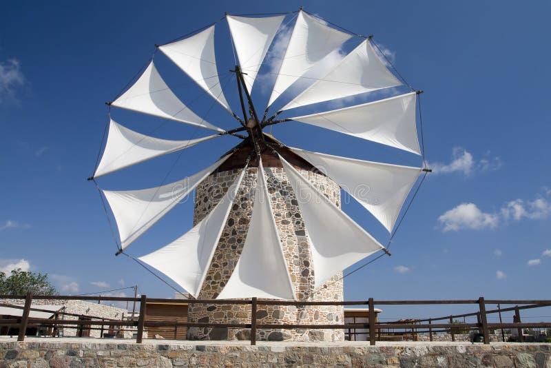 Windmolen in Antimahia, Kos stock afbeeldingen