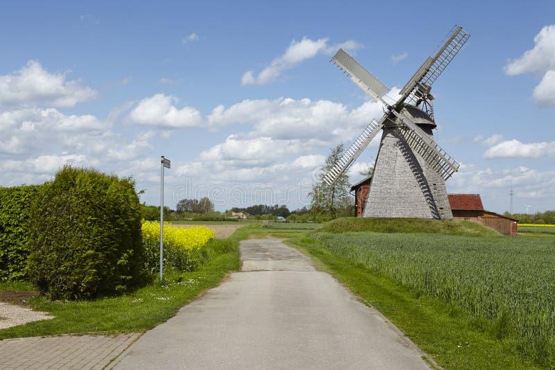 Windmolen Bierde (Petershagen, Duitsland) royalty-vrije stock afbeeldingen