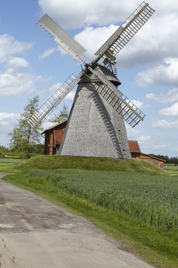 Windmolen Bierde (Petershagen, Duitsland) stock afbeelding